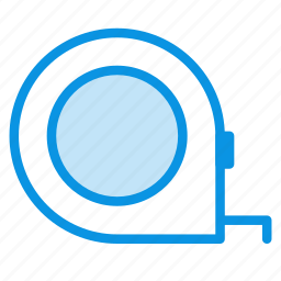 measuring, tape, tool icon