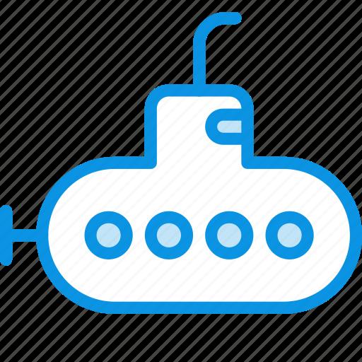 bathyscaph, submarine, underwater icon