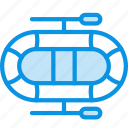 boat, rubber icon