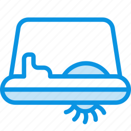 pedalo, transport, water icon