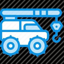 construction, crane, equipment, industrial, ivanovec icon