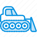bulldozer, caterpillar, dozer icon