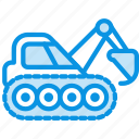 caterpillar, digger, excavator icon