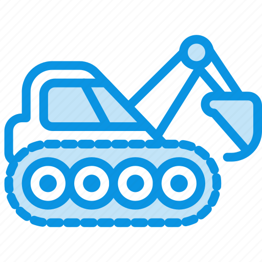 caterpillar, digger, excavator icon