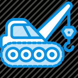caterpillar, construction, crane, equipment, industrial icon