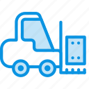 cargo, forklift, lift icon