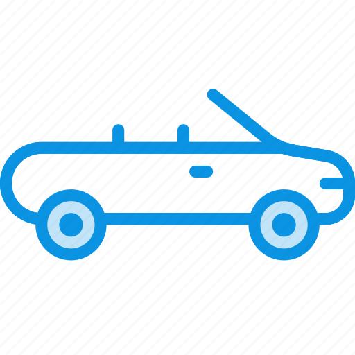 cabriolet, car, transport icon