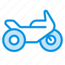 motobike, motorcycle, transport icon