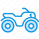 atv, quadracycle, quadrocycle, safari icon