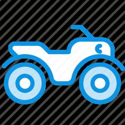 atv, quadracycle, quadrocycle, safari icon
