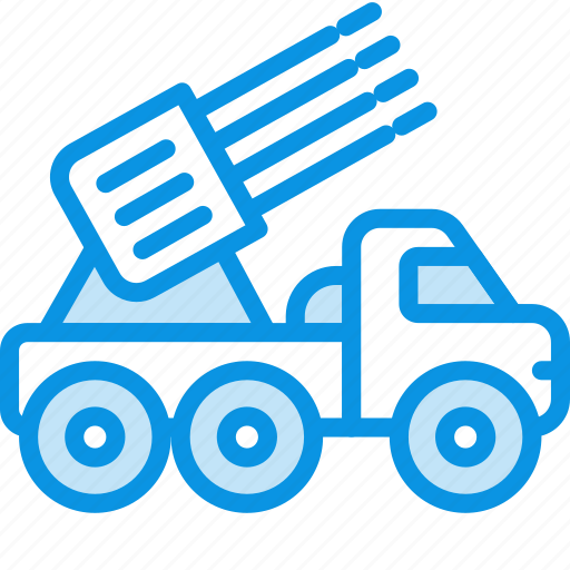 military, missile launcher, vehicle icon