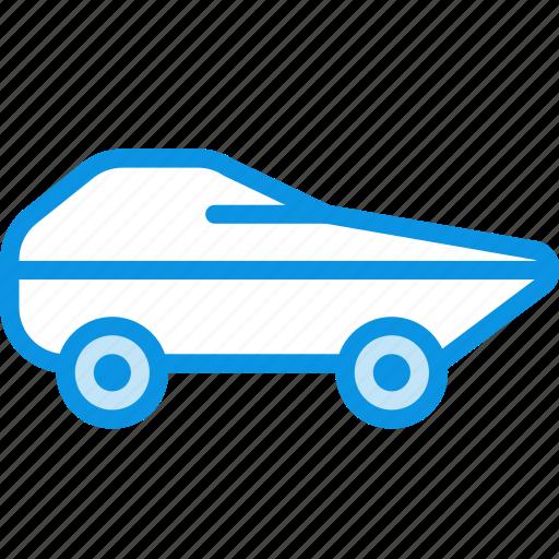 amphibious, military, transport, vehicle icon