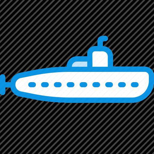 military, submarine icon