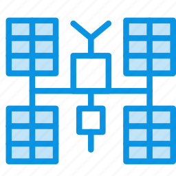 glonass, gps, iss, panels, satellite, solar, space icon