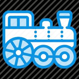 locomotive, railway, steam, train icon