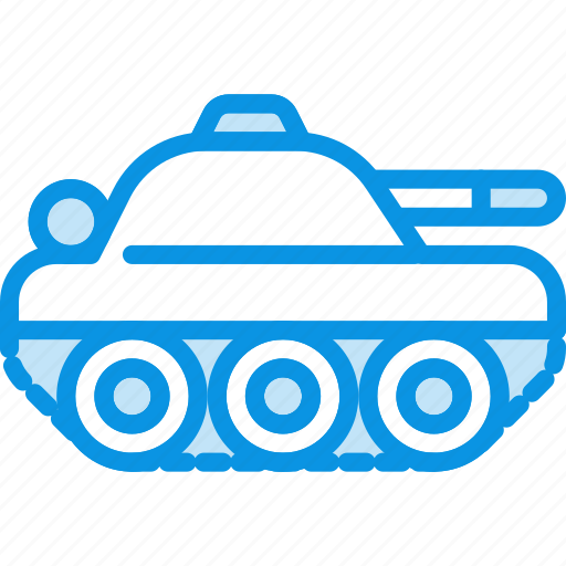 compact, military, tank icon
