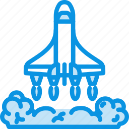 exploration, launch, ship, shuttle, space, start, transport icon