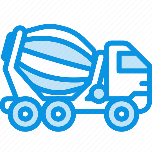 cement, truck, vehicle icon