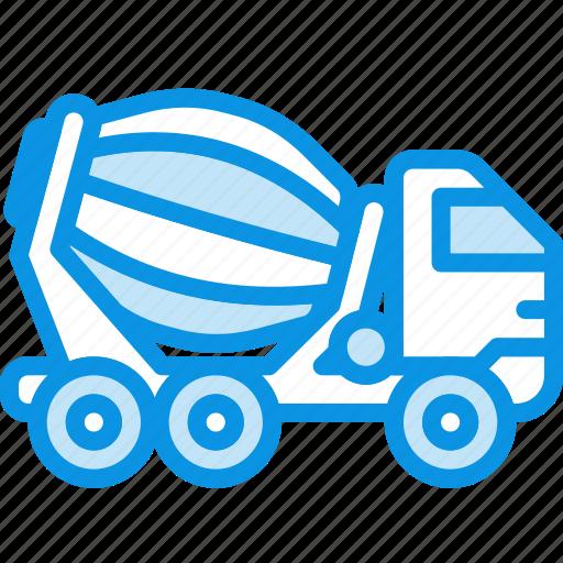 bulk, cement, construction, transport, truck, unit, vehicle icon