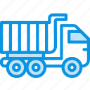 construction, transport, truck, unit, vehicle icon