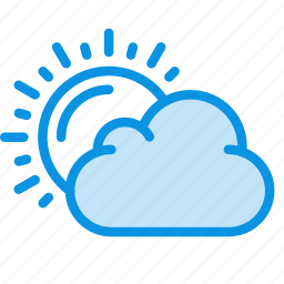 clouds, day, daylight, sun, weather icon