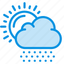 clouds, day, daylight, hail, snow, snows, sun icon