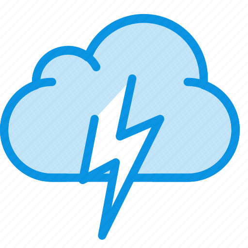cloud, cloudy, lightning, overcast, thunder, weather icon