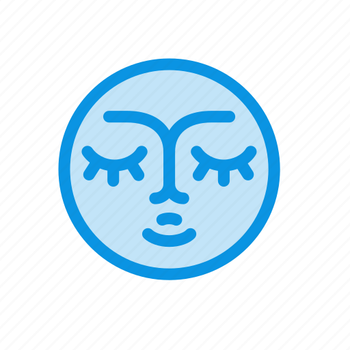 fable, face, fairy, moon, night, tale, weather icon