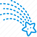 falling star, weather, wish icon