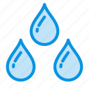 drops, rain, weather, wet icon