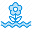 cataclysm, deluge, flood, flower, water, weather icon