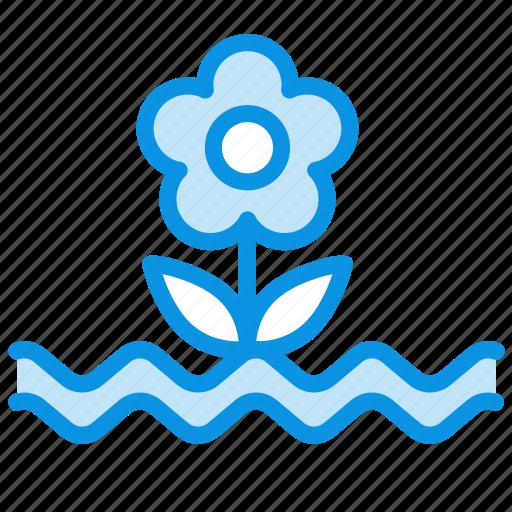 cataclysm, deluge, flood, flower, water, weather icon