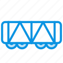 railroad, vehicle, wagon icon