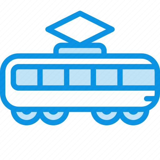 tramway, transport icon