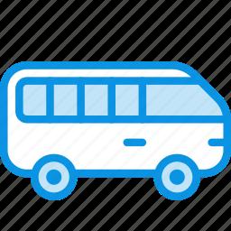 bus, minibus, transport icon