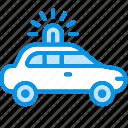 car, emergency, flashing, transport icon