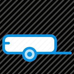 farmer, trailer, vehicle icon