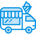 car, ice cream, shop, truck, wheels icon