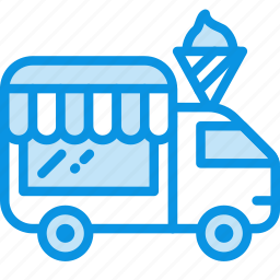 ice cream, shop, wheels icon