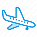 flight, landing, plane icon