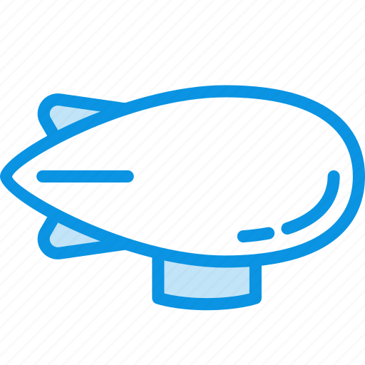 airship, flight, transport, zeppelin icon