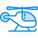 helicopter, transport icon