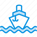ship, sign, water icon