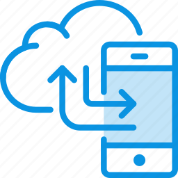 backup, cloud, data, mobile, phone, sync, synchronization, transfer icon