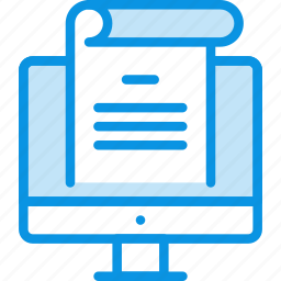 computer, document, office, text, work icon