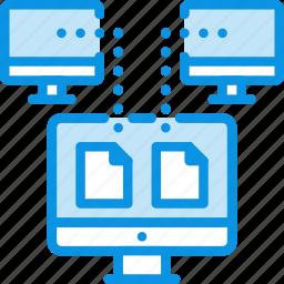 backup, copy, data, network, sync, synchronization, synchronize, transfer icon