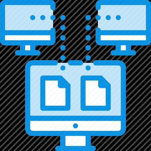 document, pc, sync icon