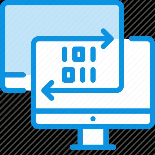 data, pc, sync icon