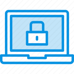 encryption, laptop, lock, locked, password, protection, safe, secure icon