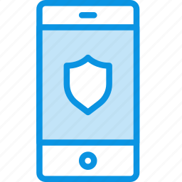 iphone, mobile, phone, protection, safe, secure, shield, smartphone icon